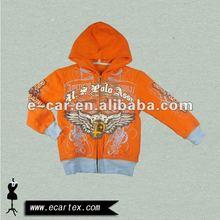 Orange print hoody for teen kids