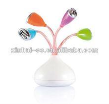 blooming vase base 4-port USB hub