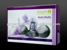 2012 hot product custom chinese purple earphone corrugated paper packaging box