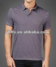 men's fashion snap on button polo t shirt 2012