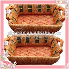 Wicker Knitting Basket