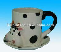 Lovely animal model tea cup ceramic