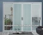 pvc sliding doors interior/inner blinds/louvesr/shutters