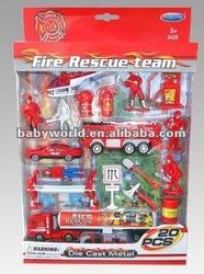 Die Cast fire car set