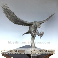 Small Size Flying Eagle Bronze Sculpture For Sale