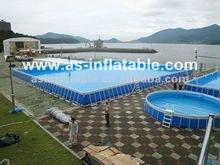 2012 Best Seller Outdoor Metal Frame square swimming pool
