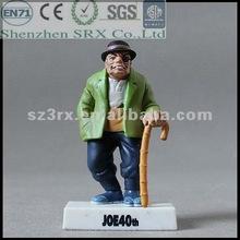 2012 old people walker toy human figurine