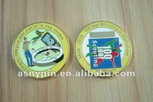 metal imitation hard enamel coin(grow in the dark)