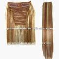 acconciature per clip in estensioni dei capelli umani