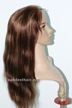 "Top quality Indian remy haiir Lace front wig 18"" 4/27# highlight natural straight lace front wig"