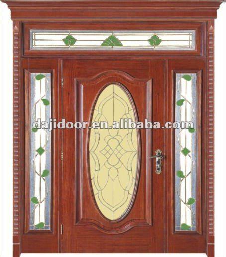 Decorativo de vidrio delantero las puertas de entrada de for Disenos de puertas principales de madera