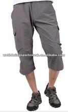 Men's grey polyester spandex medium length summer shorts