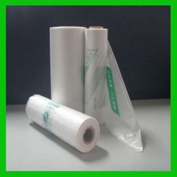 HDPE plastic bags on roll for food packaging
