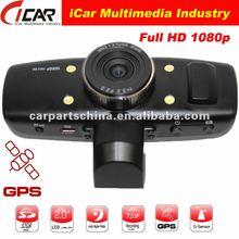 New/Hot, (GS1000)AMB solution 1080P Full HD GPS+G-Sensor+HDMI 1920x1080 30FPS car dvr recorder with gps
