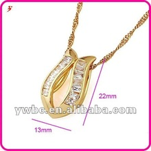 Gold neck chain design lady's fashion necklace 2012 (A119489)