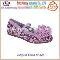 Shiny Sequin Girls Dance Shoes