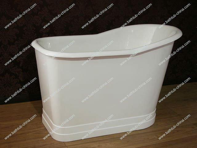 deep cast iron bath small bathtub freestanding tub with skirt