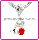 Cute Fish With red Dangle European Beads(H102945)