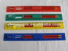 plastic ruler pencil set