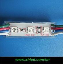 3pcs smd 5050 RGB led module backlight waterproof