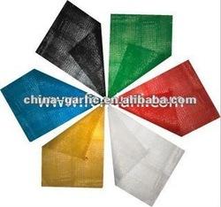 yellow circular mesh leno bag for fruit packing vegetable firewood