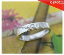 Silver Rings laser Chinese Chacater, Hot sale and comfort fit wedding 925 sterling silver ring