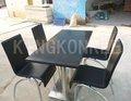 nero assoluto marmo artificiale tavolo da pranzo con 4 sedie monoposto