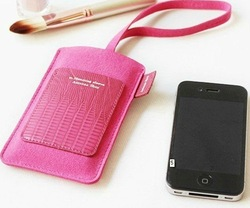 pu leather mobile phone bag, mobile phone case, cell phone pouch