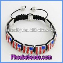 Hot Sales Square Beads Shamballa Bracelets Wholesale In USA PSB173-12