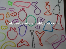 2012 new design reinforced silicone and exercise rubber band for hair