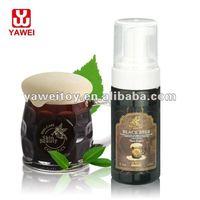 Natural facial shaving cream for man/dark beer