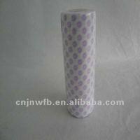 Plum blossom pattern wood pulp cotton desk cloth