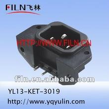 professional copper black rf outlet AC 250V YL13-KET-3019