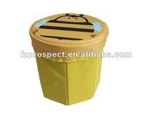 non woven multi-function folding carton children storage ottoman
