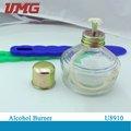 Vidrio de la lámpara de alcohol, quemador de alcohol u891