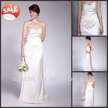 Cheap Formal White Taffeta Plus Size Long Bridesmaid Dresses 2012