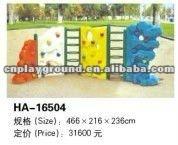 2012 LATEST DESIGN CE CERTIFICATE PLASTIC CHILDREN CLIMBING WALL (HA-16504)