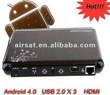 Wifi google IPTV android tv box 2 3 full hd media player 1080p For gift christmas promotionn