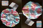 printed blossom flower fabric shower cap
