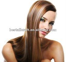 Beautiful long 3/4 wig highlight color