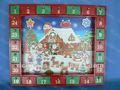 de madera de navidad santa trabajo de la tienda del calendario de adviento 24 con accesorios