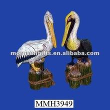 Ornamental exotic resin pelican