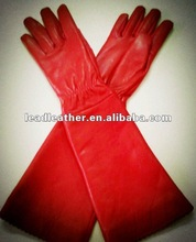 Red lady hot fashion leather gloves 2012