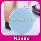 round shape latex face wash sponge