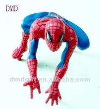 Cartoon character plastic superman action figure for kids