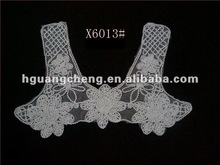 2012 nice cotton crochet neck garment accessory with flower