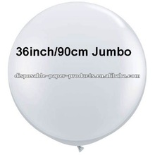 "Plain/Solid Latex Balloons --90cm (3ft) 36"" inch Huge Jumbo Big Giant Clear Latex Balloons for party wedding decoration"