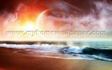 lunar eclipse scenery wallpaper murals for office walls (BH1015)