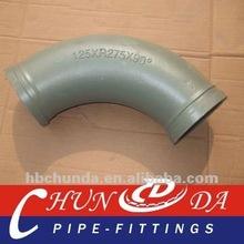 schwing DN125 concrete pump pipe twin wall elbow(wear resistant)