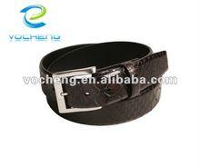 fashion snakeskin lines men's pu leather belts